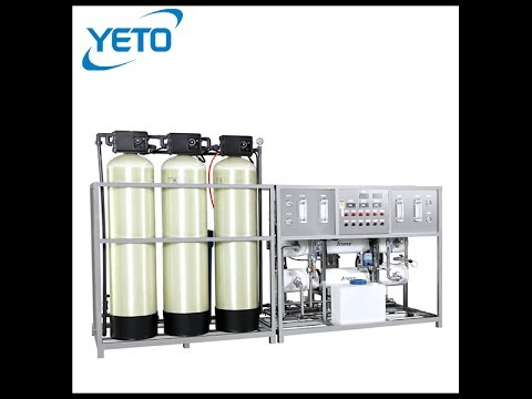 ro water treatment equipment illustrated in animation Water purification system industrial plant