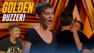 Golden Buzzer: Nightbirde's Original Song Makes Simon Cowell Emotional - AGT 2021 (Reaction!!)