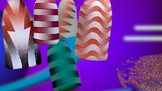 МК Линейный и фигурный градиенты. Аэрография на ногтях
