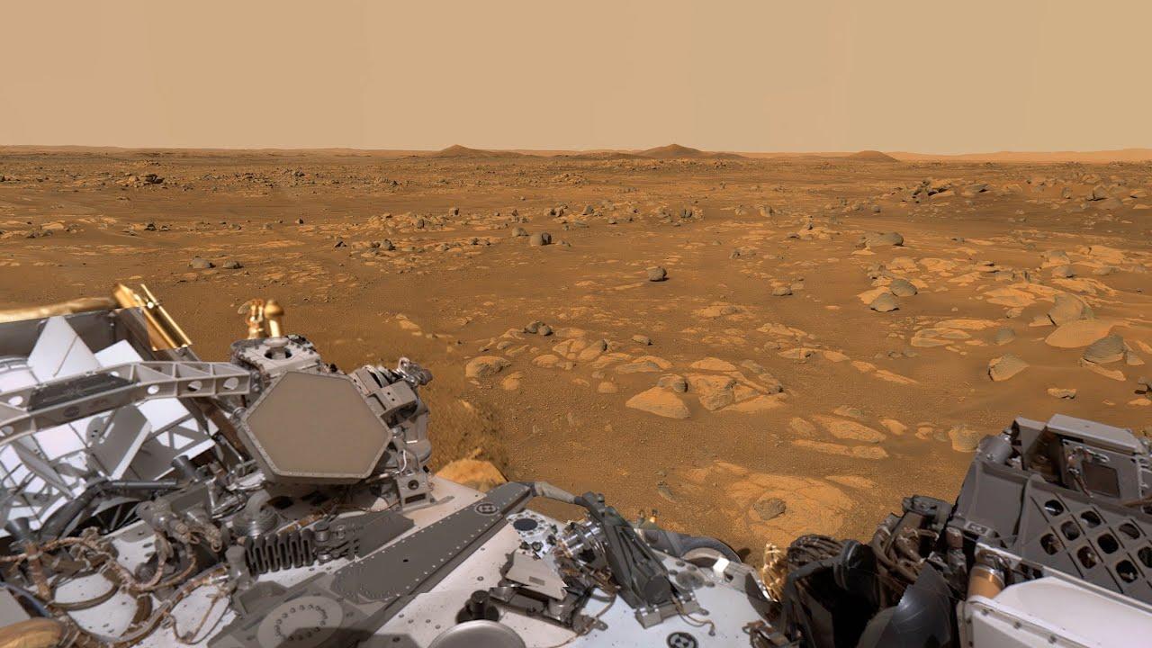 Perseverance Mars Rover's Mastcam-Z View of 'Van Zyl Overlook' (360 video + audio)