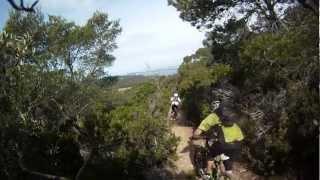 VTT enduro sur l'île de Porquerolles