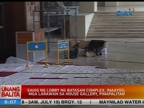 UB: Sahid ng lobby ng Batasan complex, inaayos; mga larawan sa house galler, pinapalitan