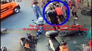 NAAS Maling Motor Tertangkap Basah Babak Belur Digebukin Masyarakat Marakas Bekasi