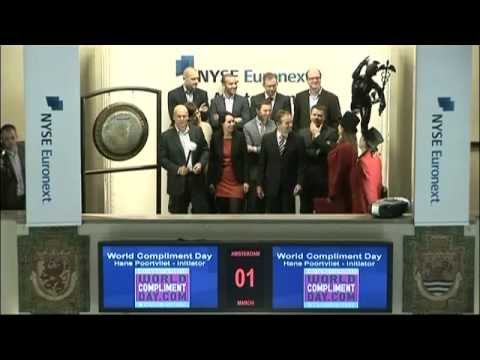 Opening Amsterdam Exchange of NYSE Euronext for National Compliment Day