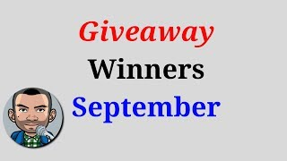 September Giveaway Winners