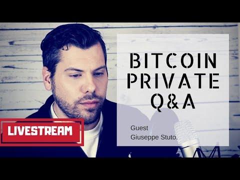 Bitcoin Private (BTCP) Q&A with Giuseppe Stuto