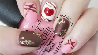 Chocolate Truffle Nails For Valentine's Day