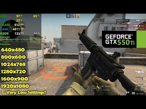 GTX 550 Ti | CSGO - 1080p, 900p, 720p, 1024x768, 800x600, 640x480