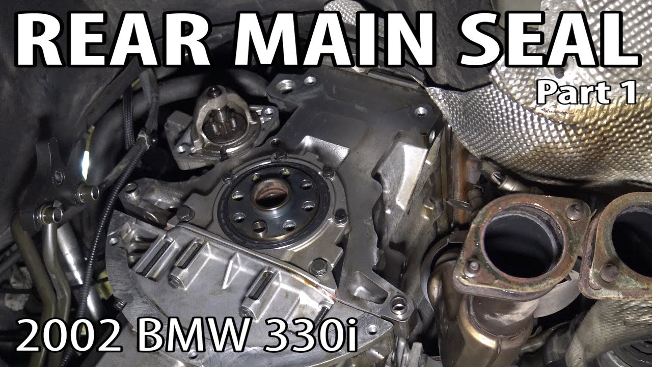 BMW E46 Rear Main Seal Replacement Part 1  Transmission Removal  YouTube