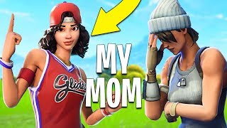 Teaching my mom how to play Fortnite (Fortnite Battle Royale)