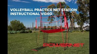 VOLLEYBALL PRACTICE NET STATION INSTRUCTIONAL VIDEO