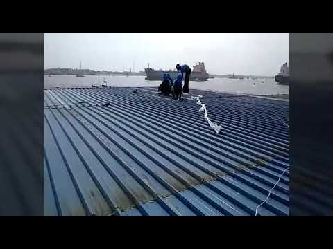 G I Sheets Roof Waterproofing Treatment Youtube