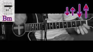 Как играть на гитаре Кино - Город (аккорды - бой - разбор песни - видео урок)