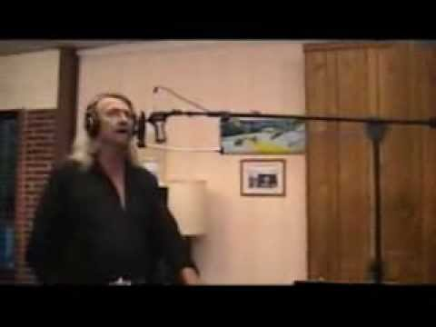 Gary Forney recording in the studio