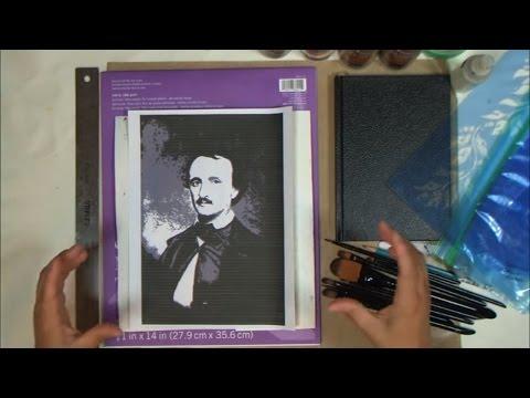 POEtry Part 1 - Dark Side of Vintage Art Journal Page