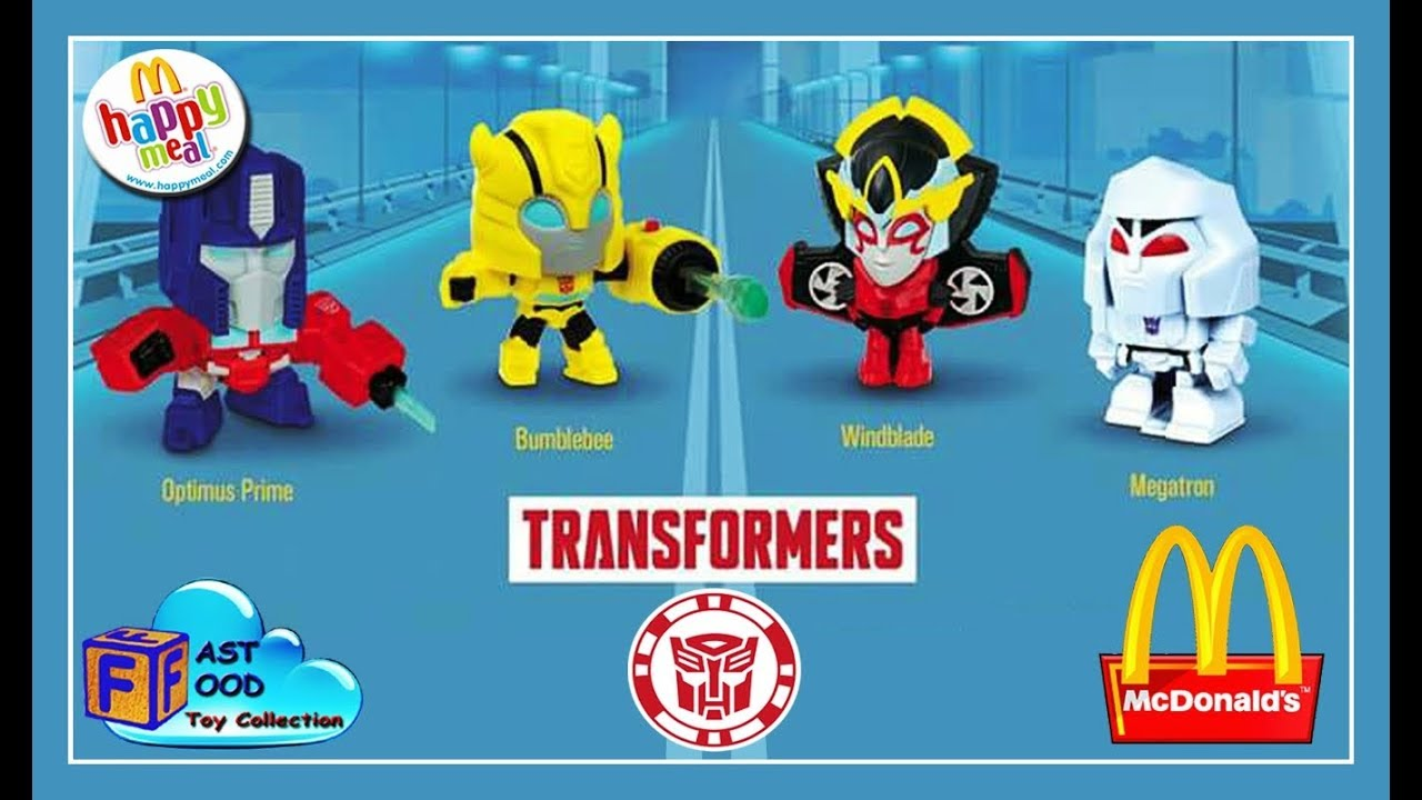 2018 Mcdonald S Transformers Happy Meal Toys Complete Set