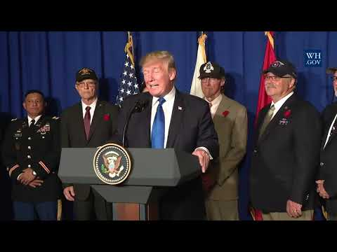 President Trump Signs a Presidential Proclamation for the 50th Anniversary of the Vietnam War