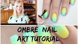 Ombre Nails Tutorial   The Nail Trail   Australia Day 2015