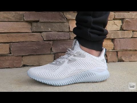 sale retailer 64c20 0ca64 adidas ALPHABounce White Onix AMS Sneaker Review On Feet