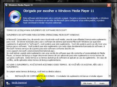 Como tirar validação do Windows Media Player 11