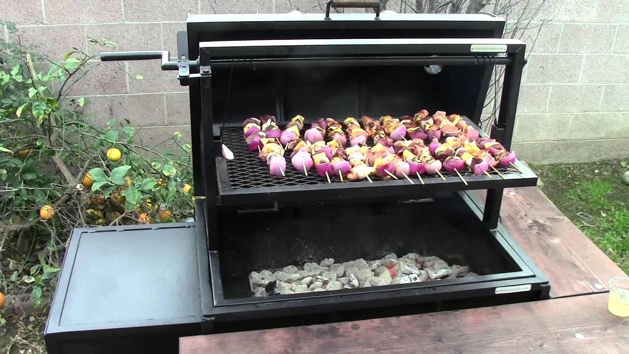 55 Gallon Smoker Santa Maria Style Barbecue Grill Youtube