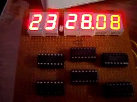 Digital Clock 4026 and 555 7 segment display YouTube