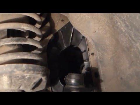 Замена бинокль(очки)рулевой рейки Ланос-Сенс.Установка брызговиков.