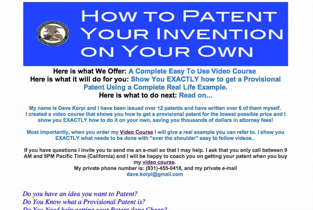 How To File a Provisional Patent - YouTube