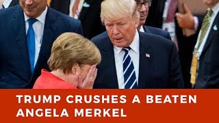Angela Merkel on the ropes as Trump goes for KNOCKOUT blow