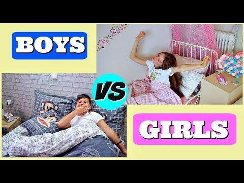 Αγόρια VS κορίτσια - ΠΡΩΙΝΗ ΡΟΥΤΙΝΑ // feat Famous TOLI