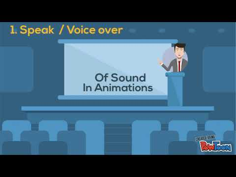 Sound design for animations