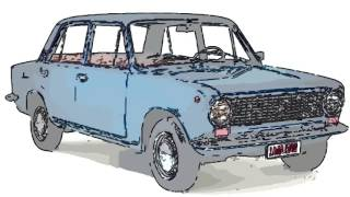 VAZ-2101 - Drawing, Painting