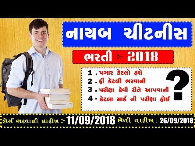 nayab chitnis syllabus in gujarati   Nayab Chitnis Bharti 2018   Salary    Exam Pattern  Syllabus