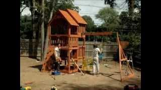Highlander Deluxe Cedar Swing/play Set With Slide