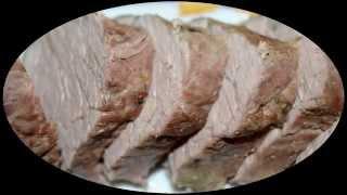 Запеченное в духовке мясо.  Простое блюдо на Новый Год!!! Baked meat