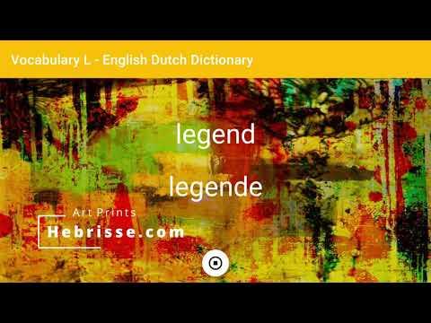 English - Dutch Dictionary - Vocabulary L