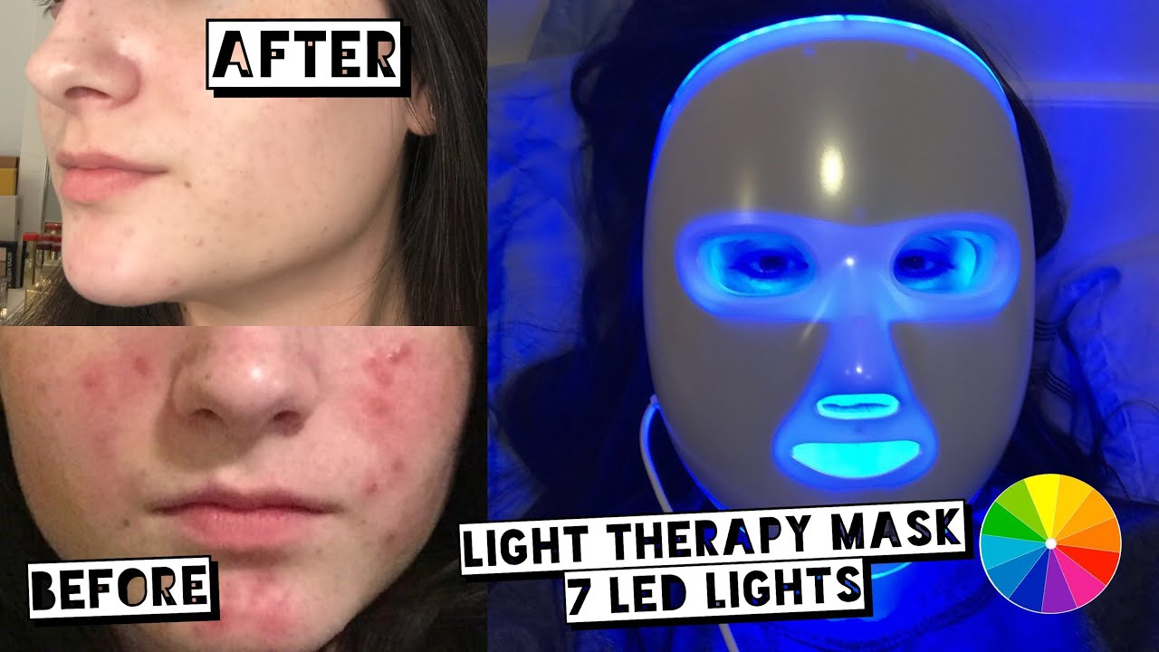 Testing Led Light Therapy Mask For Acne Project E Beauty Led Rejuvenation Mask Youtube
