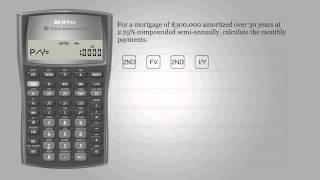 مدفوعات الرهن العقاري – Texas Instruments BA II PLUS