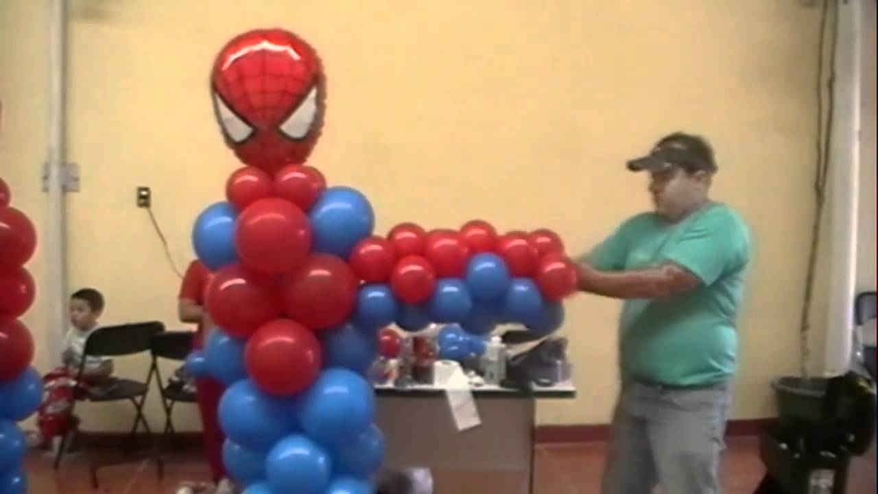 Curso decoracion con globos spiderman video 4 figuras - Decoraciones de salones de casa ...