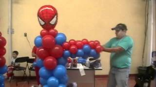 curso decoracion con globos spiderman video 4 FIGURAS thumbnail