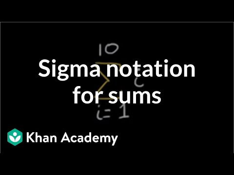 Sigma notation for sums | Sequences, series and induction |