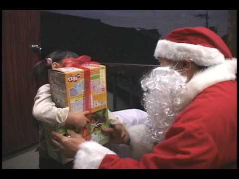 クリスマスにおもちゃが届くサンタプレゼント