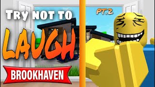 Try not to laugh - Brookhaven funny moments 😂 #2
