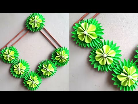 DIY Amazing Paper Flower Wall Hanging | How to make wall hanging out of paper | paper craft design