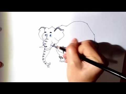 ช้าง ช้าง ช้าง ช้าง วาดภาพ ระบายสี