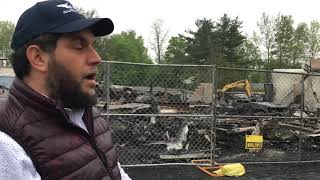 Aftermath of Fire st 613 Automotive Group in  Ellenville
