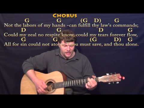 Rock of Ages - Strum Guitar Cover Lesson in G with Chords/Lyrics