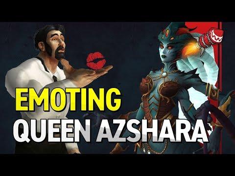 Emoting Queen Azshara (Eternal Palace Easter Egg)
