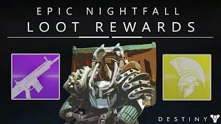 Destiny: Epic Weekly Nightfall Looting Rewards - 310 Exotic & Legendaries!