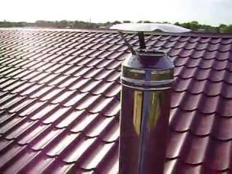 закрепление сэндвич трубы на крыше